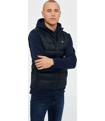 lyle & scott wadded gilet jackor dark navy