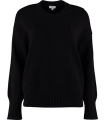 kenzo crew-neck cotton blend sweater