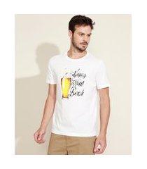 "camiseta masculina comfort happy new beer"" manga curta gola careca branco"""