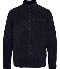 august cord shirt overhemd casual blauw lexington clothing