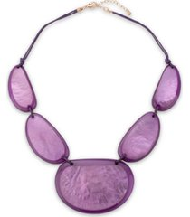 """style & co resin statement necklace, 21-1/2"""" + 3"""" extender, created for macy's"""