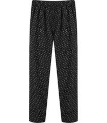 pantalon plano descanso color negro,talla l