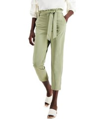 willow drive belted ruffled paperbag waist pants