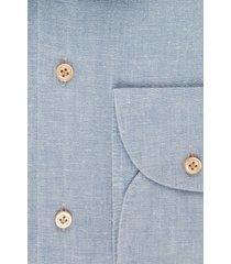 van gils heren overhemd exan lichtblauw linnen slim fit ml7
