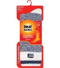 heat holders men's original cream block twist thermal socks
