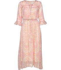 johannacr dress jurk knielengte roze cream