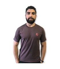 camiseta  lobo basic marrom c034