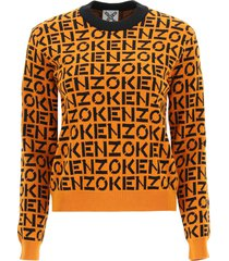 kenzo all over logo sweater