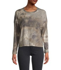 for the republic women's textured tie-dyed top - olive - size xs