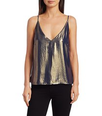 gabriela metallic v-neck cami