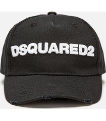 dsquared2 men's logo cap - black