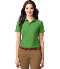 port authority l510 ladies stain-resistant polo shirt - vine green