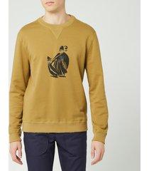 lanvin men's mother & daughter print sweatshirt - mustard - s