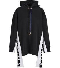 stella mccartney stella mccartney logo stripe hoodie
