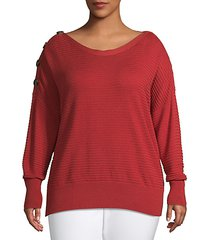 plus ribbed sweater
