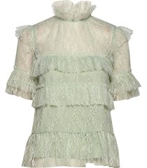 rachel blouse blouses short-sleeved groen by malina