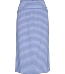 flexi pop sarocca knälång kjol blå mads nørgaard