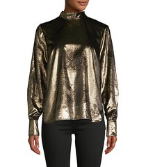 metallic back-tie shirt