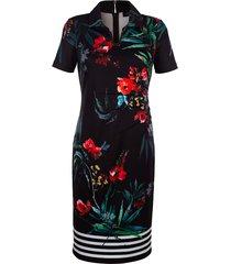 jersey jurk paola zwart::cyclaam