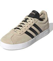 tenis beige adidas vl court 2.0 savanna / core black / cloud white eg3964