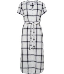 midi shirtdress in linen-cotton knälång klänning vit gap