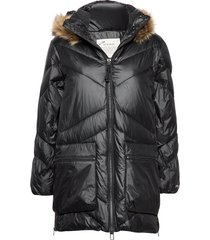 pretty mountainous parka gevoerde lange jas zwart odd molly