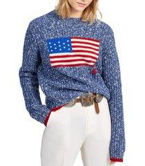 chaleco flag wool-blend azul polo ralph lauren