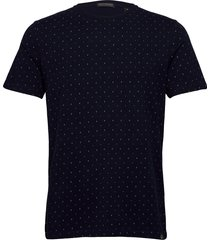 classic jersey crewneck tee with all-over pattern t-shirts short-sleeved blå scotch & soda