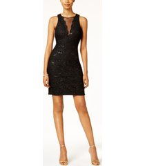 nightway sequined lace cocktail dress