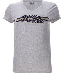 camiseta nothing is real color gris, talla l
