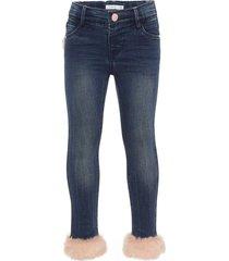 jeans skinny fit pluizig