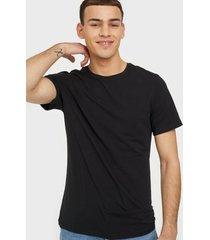 bread & boxers crew neck t-shirt t-shirts & linnen svart