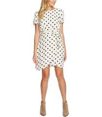 1.state polka-dot wrap-front dress