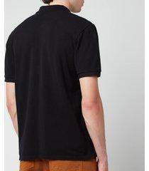 maison kitsuné men's fox head patch classic polo shirt - black - s