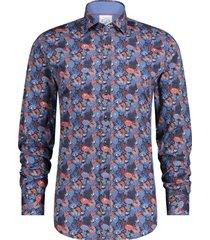 overhemd koraal donkerblauw