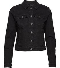 vmhot soya ls denim jacket mix ga noos jeansjacka denimjacka svart vero moda