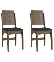 conjunto de cadeiras móveis canção 916 2 peças fosca