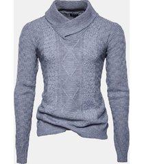 maglione casuale del collare del manicotto lungo caldo del maglione del jacquard del manicotto del manicotto