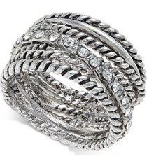 inc textured pave statement ring, created for macy's