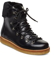 boots - flat - with laces shoes boots ankle boots ankle boots flat heel svart angulus