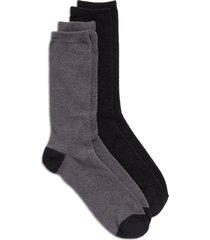 men's nordstrom assorted 2-pack butter light crew socks, size regular - black