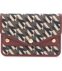 mulberry flat monogram wallet - brown