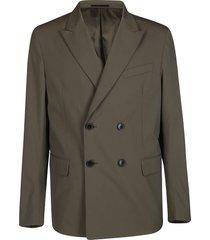 valentino green cotton blend blazer