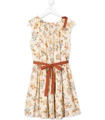caramel notting hill floating bouquet dress - neutrals