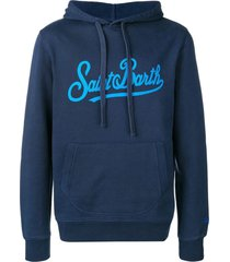 saint barth blue cotton hoodie