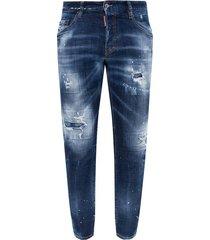"""skater"" distressed jeans"