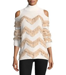 high hawking fringed sweater