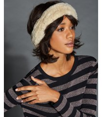 the fur vault knitted rabbit fur headband