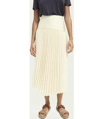 scotch & soda pleated maxi skirt