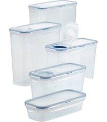 lock n lock easy essentials 10-pc. pantry food storage set, created for macy's